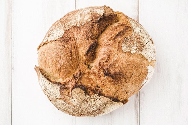 El pan una vez horneado.