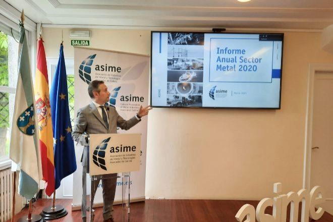 Enrique Mallón, secretario general de Asime, durante la presentación hoy de los datos del sector.