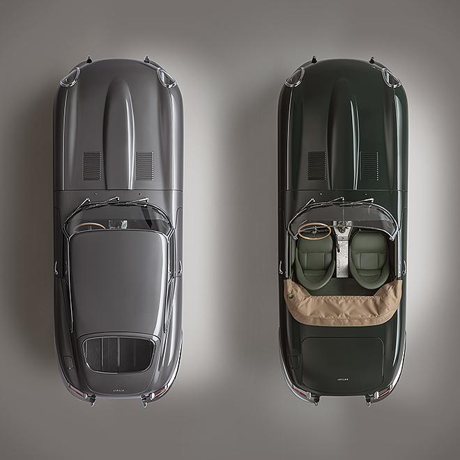Vista cenital de las dos unidades, el coupé y el descapotable.