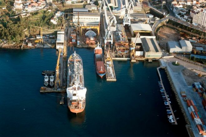 Vista aérea del antiguo astillero Vulcano.