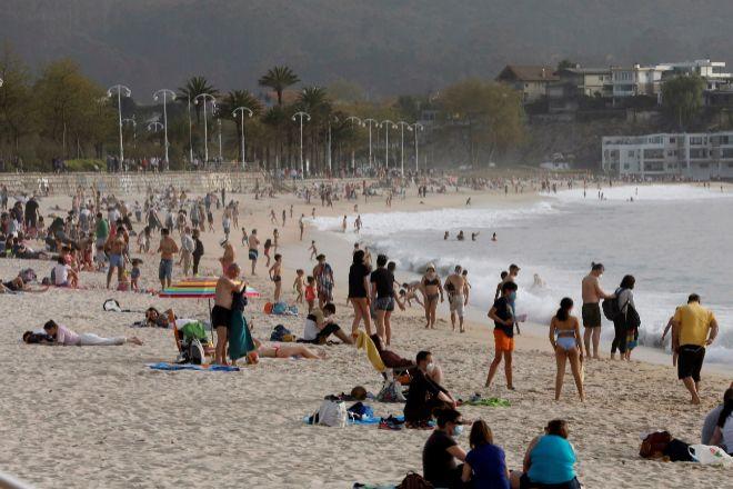 Playa de Samil, en Vigo.