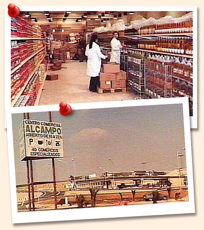 Alcampo. Utebo fue su primera tienda en España.