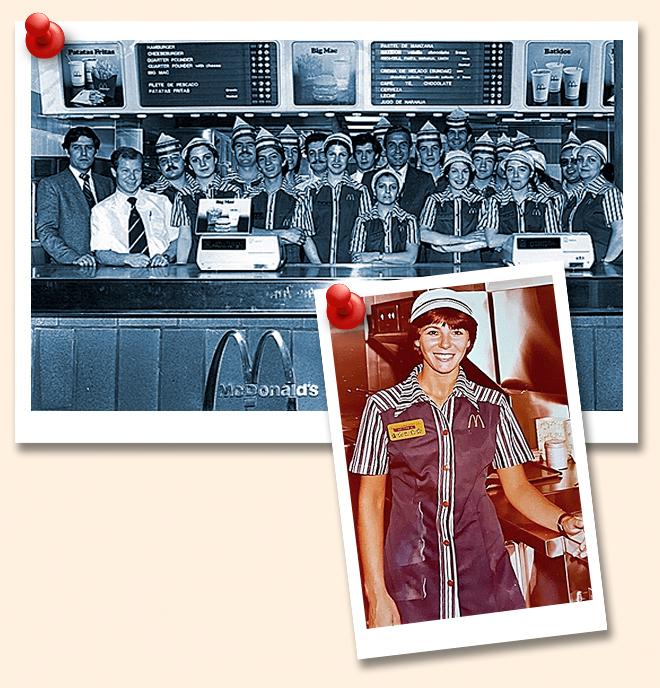 1-McDonald's. Su primer restaurante en España estaba en la Gran Vía de Madrid. 2-Epifanía Muñoz. Empezó a trabajar en el primer restaurante del grupo.