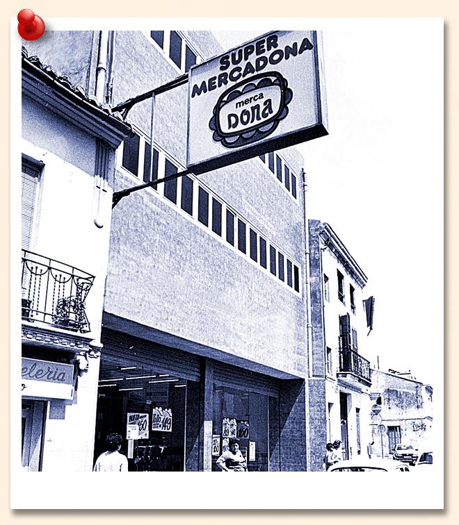 Mercadona. Imagen de una de sus primeras tiendas en Tavernes Blanques (Valencia).