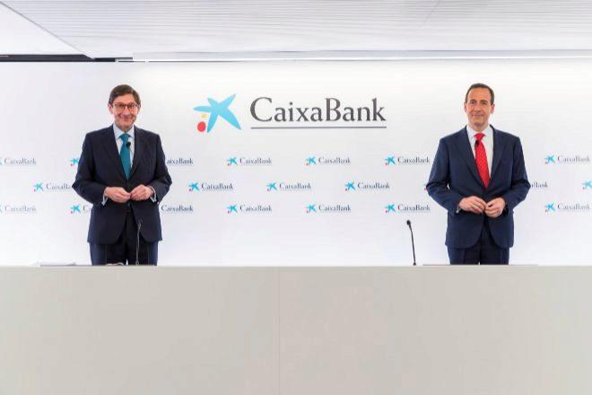 José Ignacio Goirigolzarri, presidente de CaixaBank, y Gonzalo Gortázar, consejero delegado.