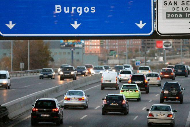 Carretera de Burgos en Madrid.