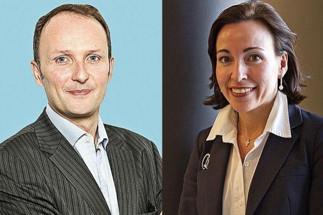 Alexandre Lefebvre, consejero delegado de Sabadell Asset Management, y Conchita Álvarez, responsable de Ahorro e Inversión de Sabadell.