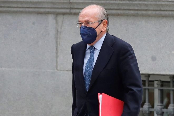 El expresidente de Sacyr Luis del Rivero llega a la Audiencia Nacional este miércoles para declarar como testigo por los presuntos encargos de BBVA al excomisario José Villarejo.