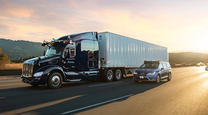 Proyecto de camión autónomo de la start up norteamericana Aurora.