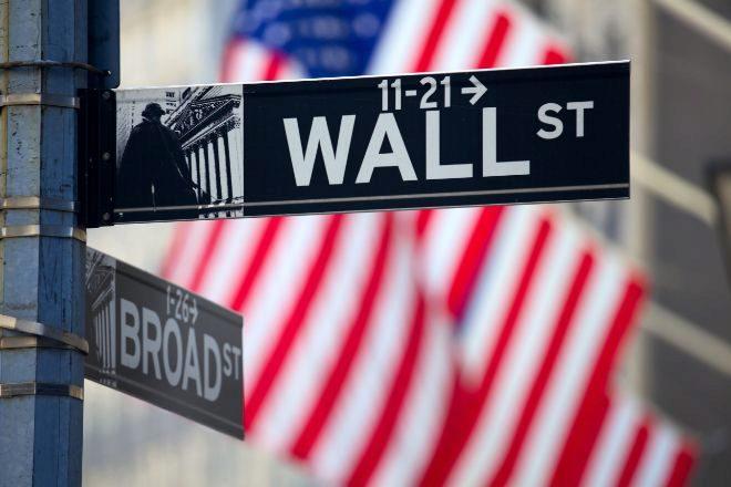 LOGO CALLE lt;HIT gt;WALL lt;/HIT gt; lt;HIT gt;STREET lt;/HIT gt; EN NUEVA YORK. BOLSA BANDERA EEUU