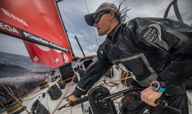 Marie Riou, a bordo del Dongfeng. | JEREMIE LECAUDEY / VOLVO AB