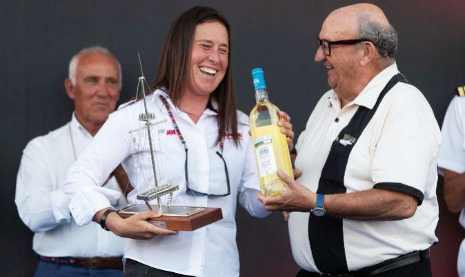 Támara Echegoyen, recibiendo el Premio Nacional de Vela en 2018. | LALO R. VILLAR