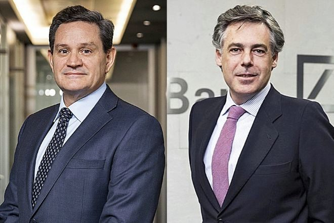 Fernando Sousa, responsable de la división International Private Bank en España, y Borja Martos, responsable de Banca Privada y Wealth Management de Deutsche Bank España.