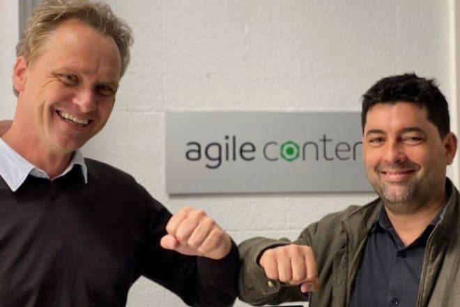 Alex Puregger (izquierda), CEO de Fon, y Hernán Scapusio, fundador y primer ejecutivo de Agile