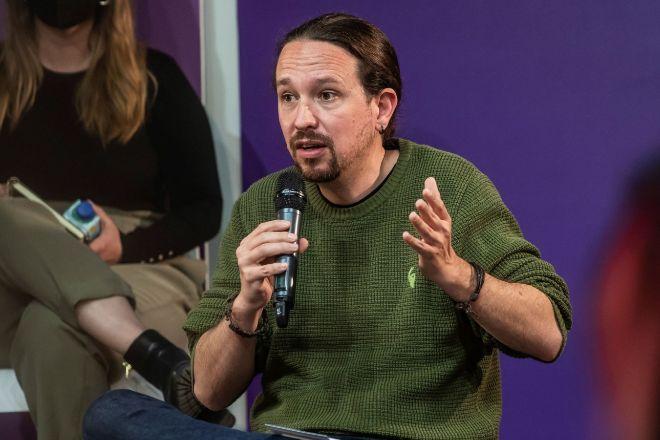 Pablo Iglesias, candidato de Podemos a la presidencia de la Comunidad de Madrid, presenta el programa electoral de Unidas Podemos hoy en la localidad de Alcobendas.