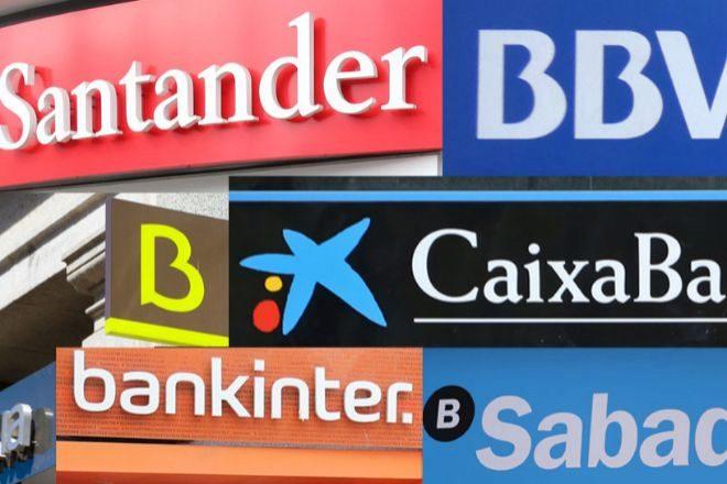 Logotipos de los bancos españoles.