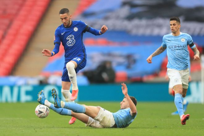 Partido entre el Chelsea y el Manchester City.