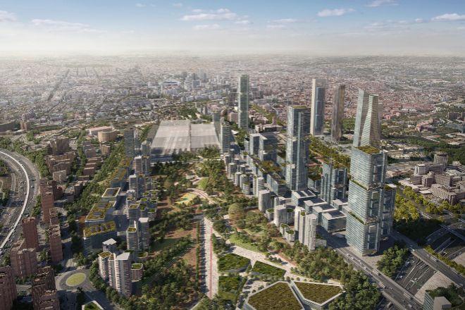 Recreación del proyecto urbanístico de Madrid Nuevo Norte.