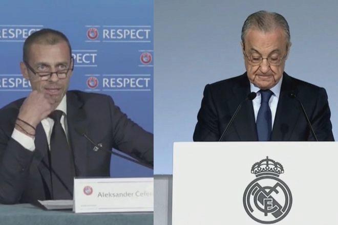 """Florentino Pérez: """"De momento están los 12"""" en la Superliga, """"ninguno ha pagado la penalización"""""""