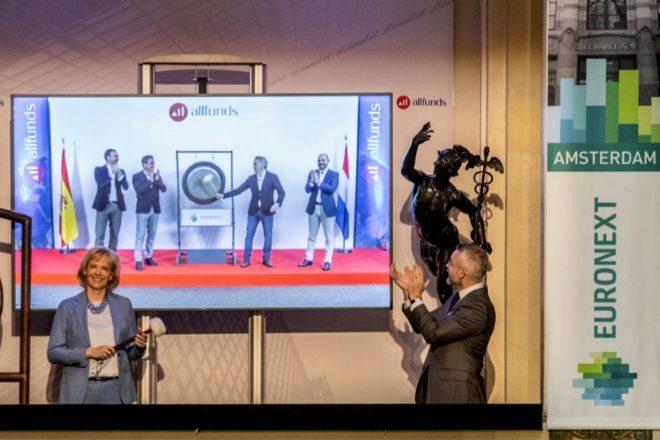 Allfunds supera los 8.000 millones de valoración en su estreno en Bolsa