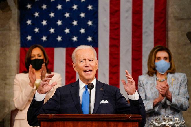 Joe Biden, en un discurso anteayer en el Congreso de Estados Unidos.