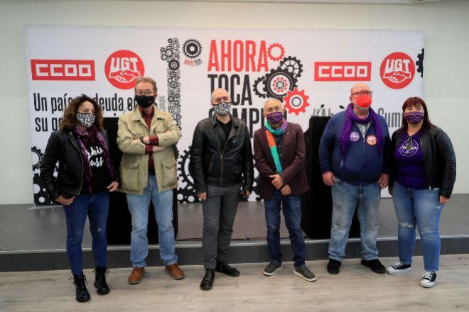 Yolanda Díaz y otros seis ministros se manifiestan con los sindicatos en la marcha del 1 de Mayo