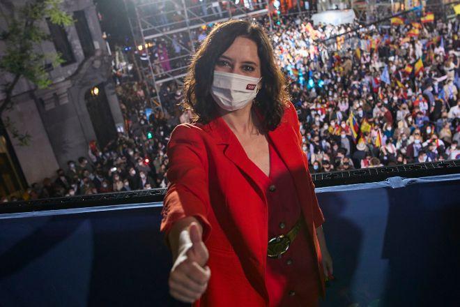 La presidenta de la Comunidad de Madrid y candidata a la reelección por el PP Isabel Díaz Ayuso.