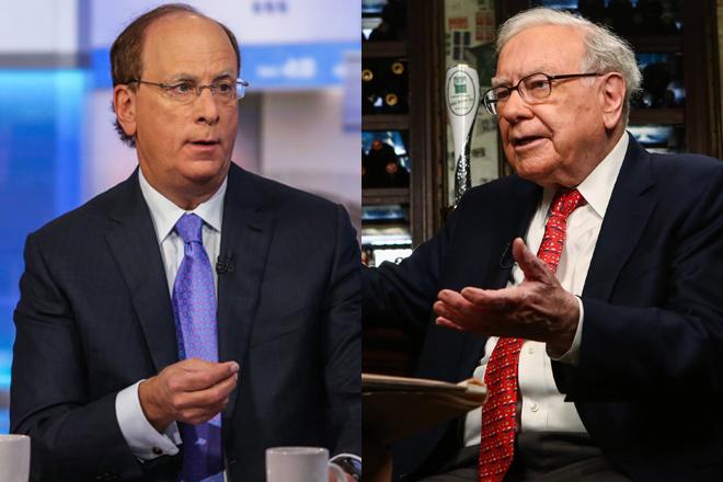 Larry Fink, consejero delegado de BlackRock, y Warren Buffett, presidente de Berkshire Hathaway.