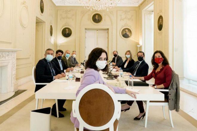 Isabel Díaz Ayuso presidió ayer el Consejo de Gobierno de la Comunidad de Madrid.