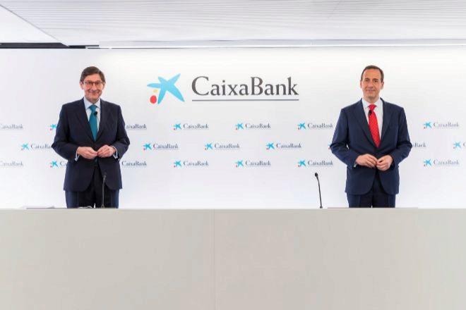 José Ignacio Goirigolzarri, presidente de CaixaBank, y Gonzalo Gortázar, consejero delegado del grupo.