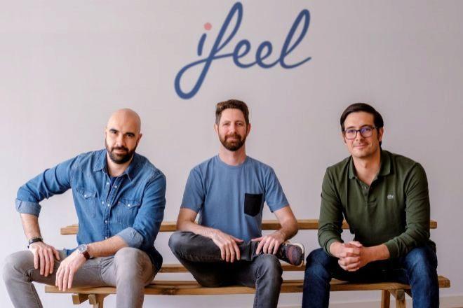 De izqda. a dcha, Gabriele Murrone, Amir Kaplan y Martín Villanueva, socios fundadores de Ifeel.
