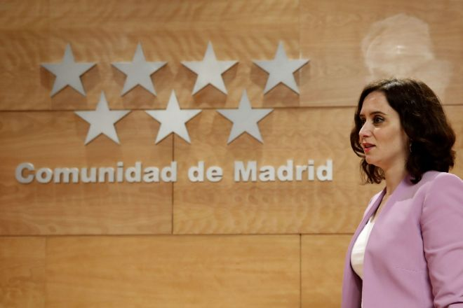 La presidenta de la Comunidad Madrid, Isabel Díaz Ayuso.