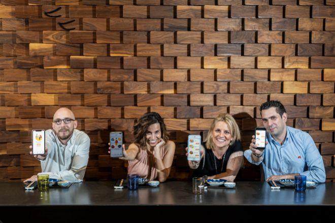 Equipo fundador de Maybein, 'app' que permite reservar entre 50 restaurantes