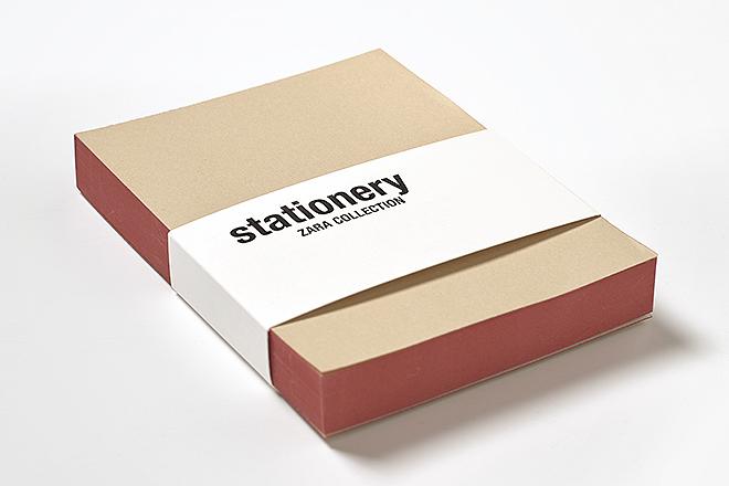 Taco de notas: lomo tintado de rojo, 100x130, papel interior 100% reciclado, con 150 hojas y cartoncillo trasero, 4,95 euros.