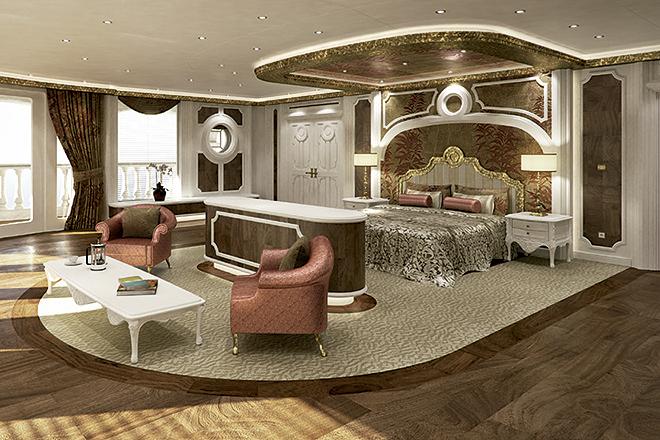 Las habitaciones cuenta con salón, vestidor y balcón.