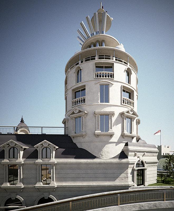 Simulación del Hotel de París.