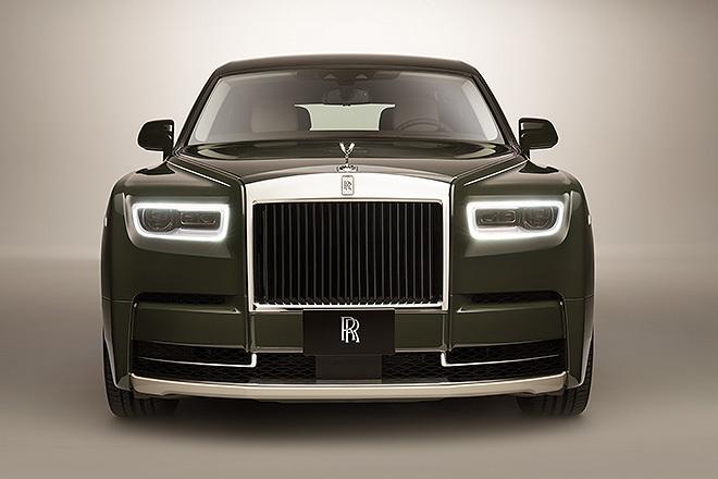 Vista frontal del Rolls-Royce Phantom Oribe.