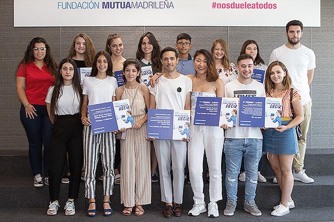 Ganadores de Nosdueleatodos en 2019, concurso en el que estudiantes de toda España idean sus propias campañas contra la violencia de género.