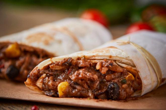 Burritos de 'No Pollo' de Green&Great.