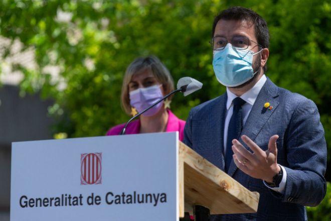 El vicepresidente del Govern y presidente en funciones Pere Aragonès.