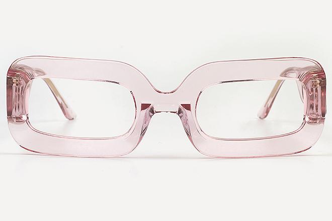 Montura de ver color rosa. 49 euros.