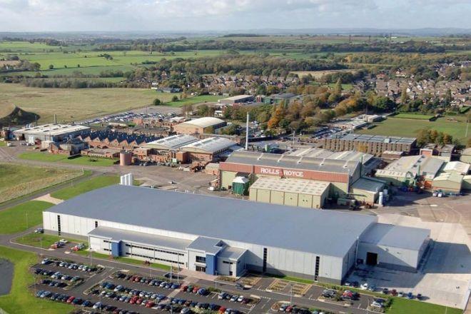 Vista aérea de la planta británica.