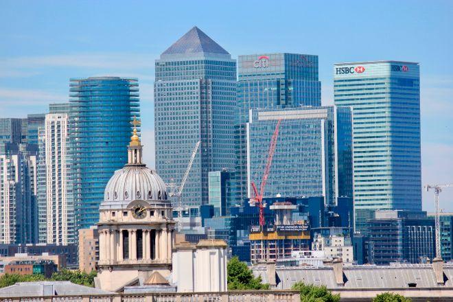Imagen de la City londinense, donde se concentran los grandes bancos.