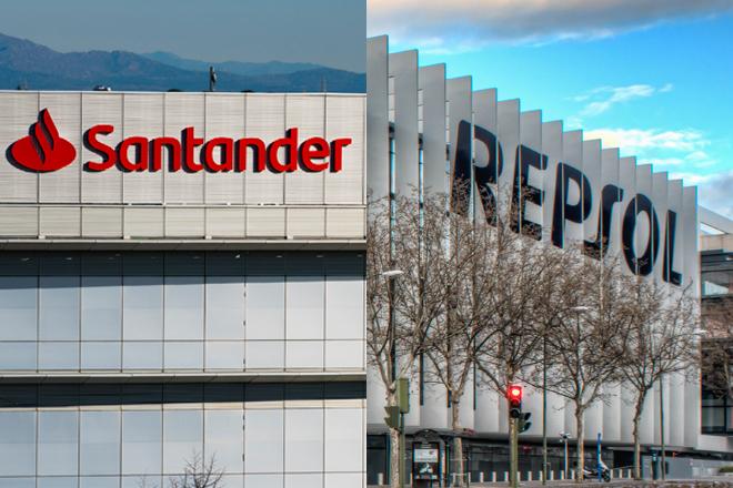 Sedes de Santander y Repsol.