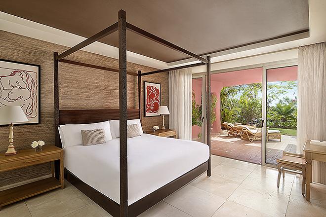 Dormitorio de una de las villas.