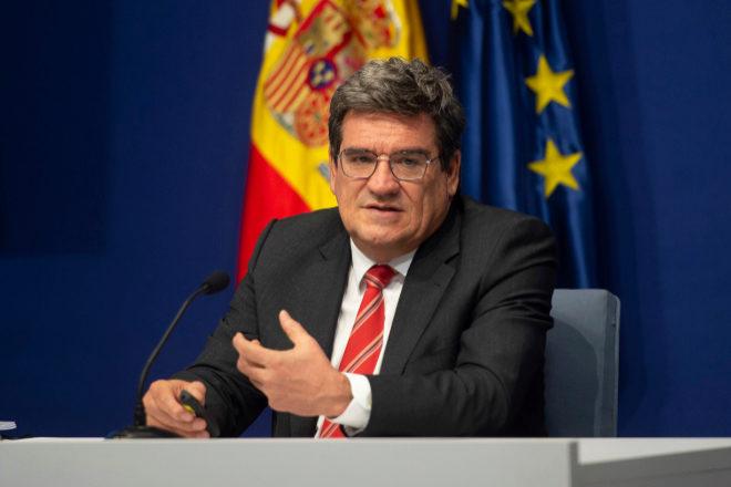 El ministro de Inclusión, Seguridad Social y Migraciones, José Luis Escrivá, en la rueda de prensa de ayer.