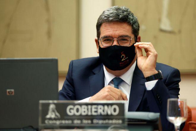 El ministro de Inclusión, Seguridad Social y Migraciones, José Luis Escrivá, en el Congreso de los Diputados.