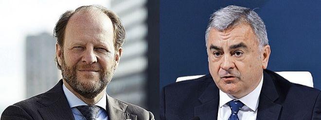 Jos Dijsselhof, presidente de la BME y consejero delegado de SIX, y Javier Hernani, consejero delegado de BME.