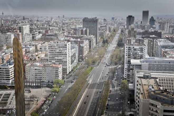 Madrid, desde el paseo de la Castellana.