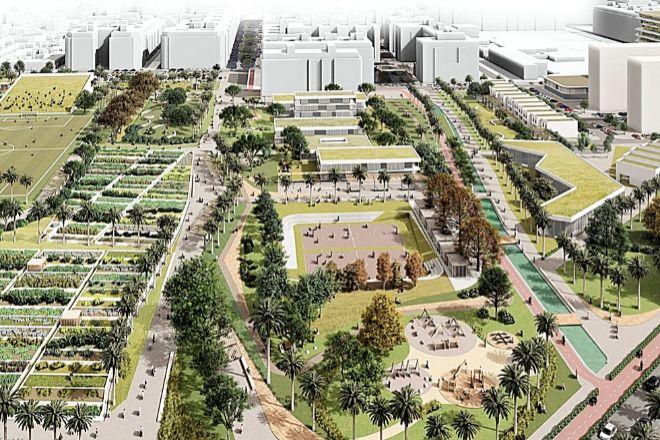 Imagen virtual del desarrollo inmobiliario propuesto por Metrovacesa en Benimaclet (Valencia).